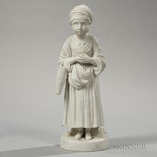 Wedgwood Carrara Figure of a Young Girl