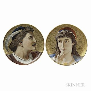 Pair of Wedgwood Earthenware Shakespearean Chargers