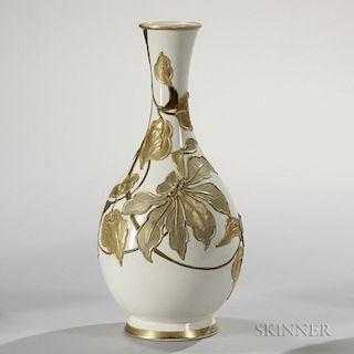Wedgwood Slip-decorated Ivory Vellum Vase