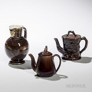 Three Wedgwood Rockingham Glazed Items