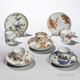 Five Wedgwood Bone China Coffee Cans and Saucers