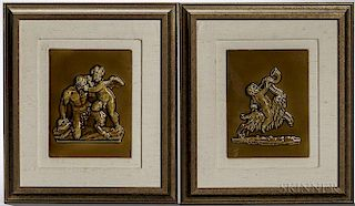 Pair of Wedgwood Majolica Tiles