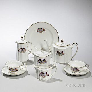 Seven-piece Wedgwood Liberty Ware Bone China Tea Set