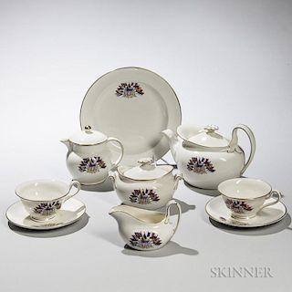 Seven Wedgwood Queen's Ware Liberty Tea Ware Items