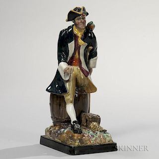 Wedgwood Queen's Ware Figure of Long John Silver