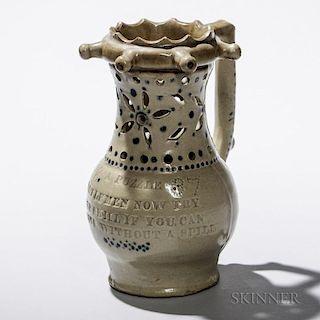 Dated Stoneware Puzzle Jug