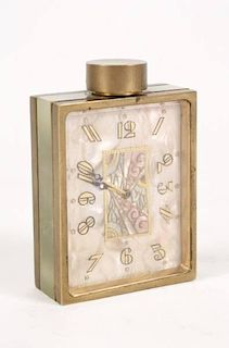 Art Deco Miniature Clock, Didisheim Goldschmidt