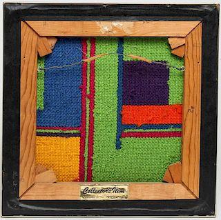 After Piet Mondrian- Midcentury Wool Needlepoint