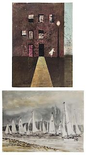 (2) MICHAEL FRARY (1918-2005) WATERCOLORS ON PAPER