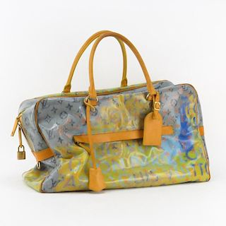 Louis Vuitton By Marc Jacobs In Collaboration With Richard Prince Limited Edition Pulp Weekender Tote.