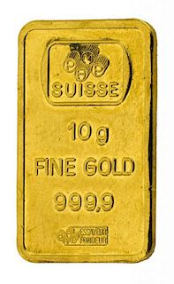 CREDIT SUISSE GOLD 10 GRAM GOLD BAR