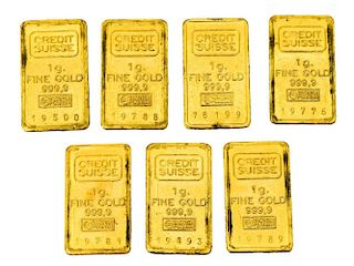 (7) CREDIT SUISSE ONE GRAM GOLD BARS