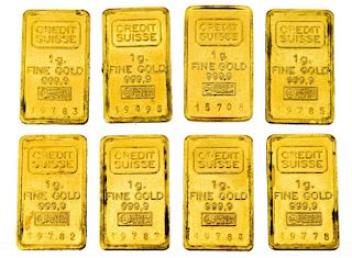 (8) CREDIT SUISSE ONE GRAM GOLD BARS