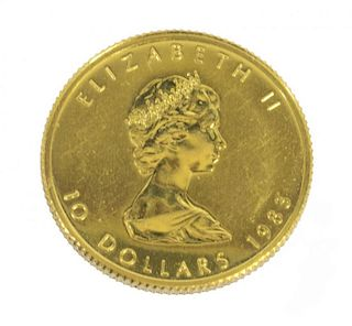 CANADIAN MAPLE LEAF $10 DOLLAR GOLD COIN