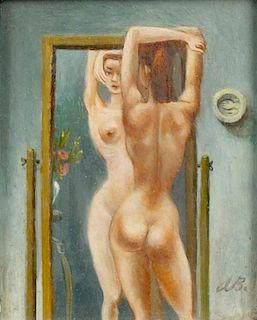 Aaron Bohrod (1907 - 1992) Nude Painting
