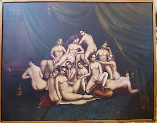 Orientalist Erotic Nude Group, Continental School