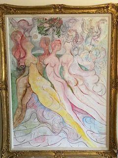 Avinash Chandra Indian Modernist Painting Nudes