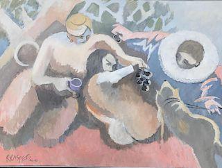Robert Casper (1928-2012) Monhegan Modernist LARGE Painting