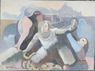 Robert Casper (1928-2012) Monhegan Modern LARGE Painting