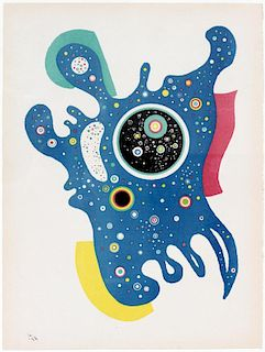 AFTER WASSILY KANDINSKY COLOR LITHOGRAPH 1938