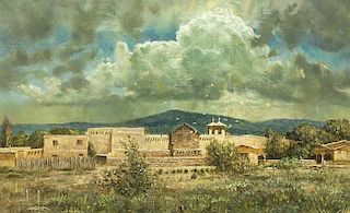 Robert Abbett | Storm Over Ranchos de Taos