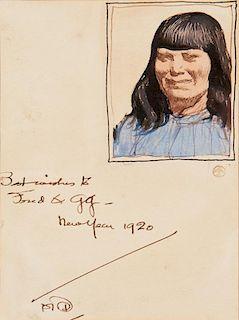 Maynard Dixon | Indian Girl
