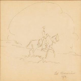Edward Borein | Horse and Rider