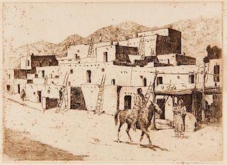 Edward Borein | A Street in Taos