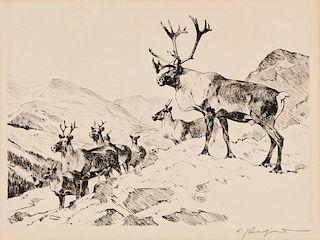 Carl Clemens Moritz Rungius | Mountain Caribou