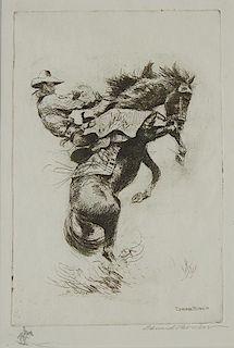 Edward Borein | Rider on Bucking Horse