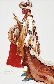 Ned Jacob | Assiniboine (Wolf-Skin Cap)