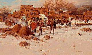 Gary Niblett | Winter Scene Taos Pueblo