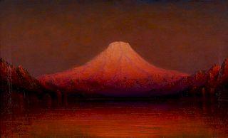 James Everett Stuart | Sunset Glow, Mt. Rainier, Near Tacoma, Washington