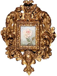Clark Hulings | Rose [with 18th century Spanish frame]