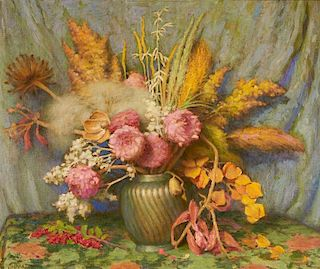 Joseph Henry Sharp | Autumn Flowers, Weeds, Grasses and Seed Pods