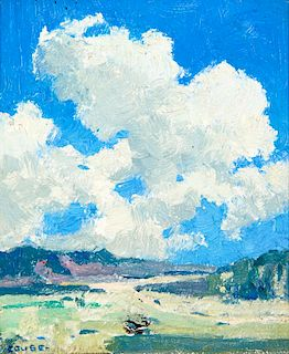 Eanger Irving Couse | Clouds Building Over the Arroyo