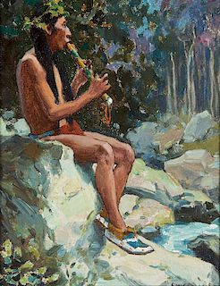 Eanger Irving Couse | Pipes of Pan