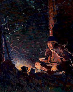 William Herbert Dunton | Evening Meal - The Hunter's Supper