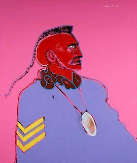 Fritz Scholder | Pawnee Scout #2