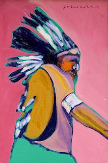 Fritz Scholder | Study for Indian with Shield