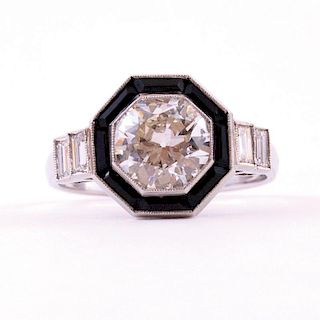 Unknown | Diamond & Onyx Ring