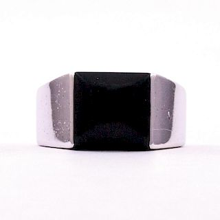 Cartier | Onyx and White Gold Ring