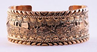 "Unknown | Storyteller, ""Five Miles from Home"" Cuff Bracelet"