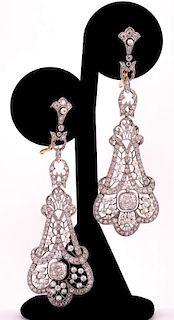 Unknown | Edwardian Diamond & Pearl Earrings