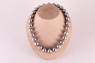 Cartier | Tahitian Pearl necklace with Diamond clasp