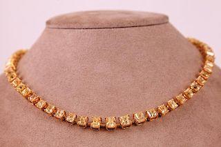 Unknown | Yellow Diamond Necklace