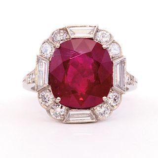 Unknown | Ruby, Diamond & Platinum Ring