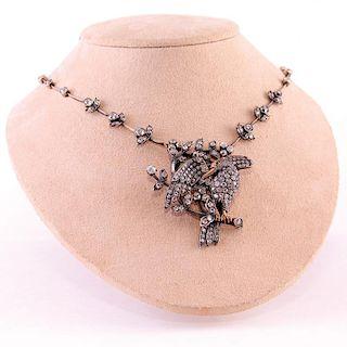 Unknown | Victorian Bird Brooch Necklace