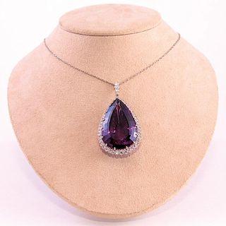 Bishops Pope | Amethyst & Diamond Necklace