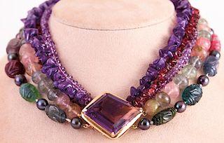 Unknown | Multicolor Gemstone Necklace
